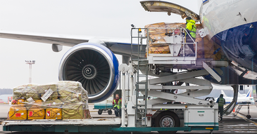 Loading a plane with supplies