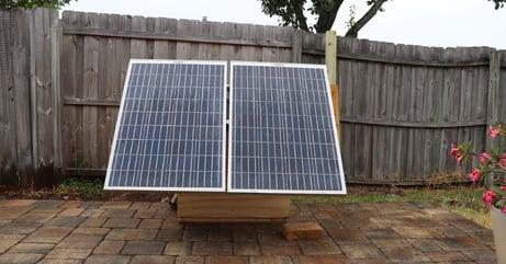 solar-powered atmospheric water generator