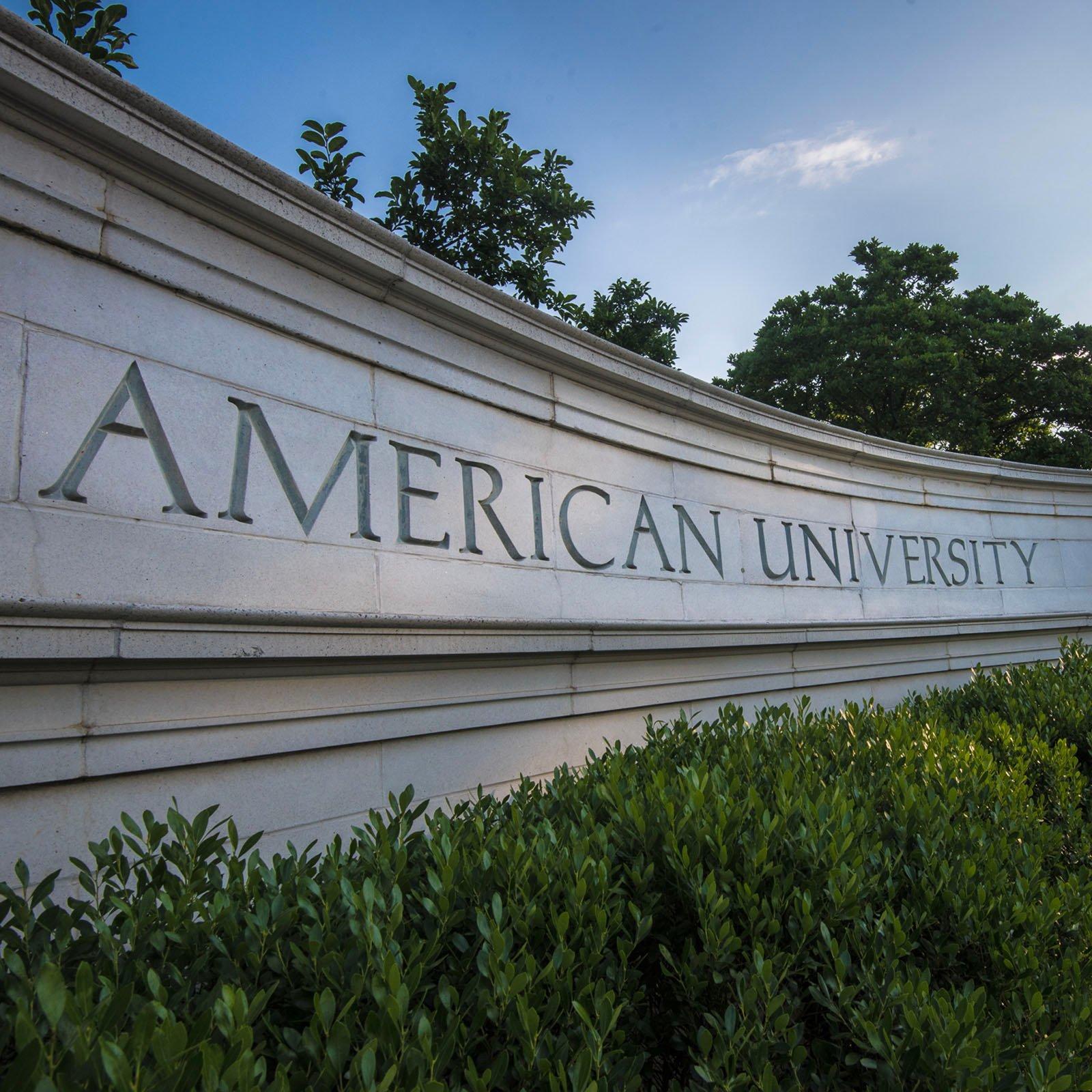 American University sign