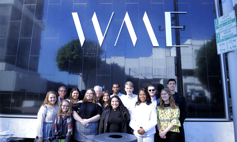 Students outside WME