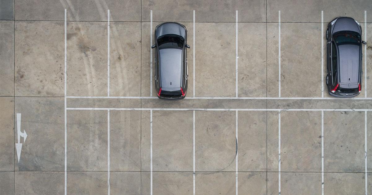 A barren parking lot