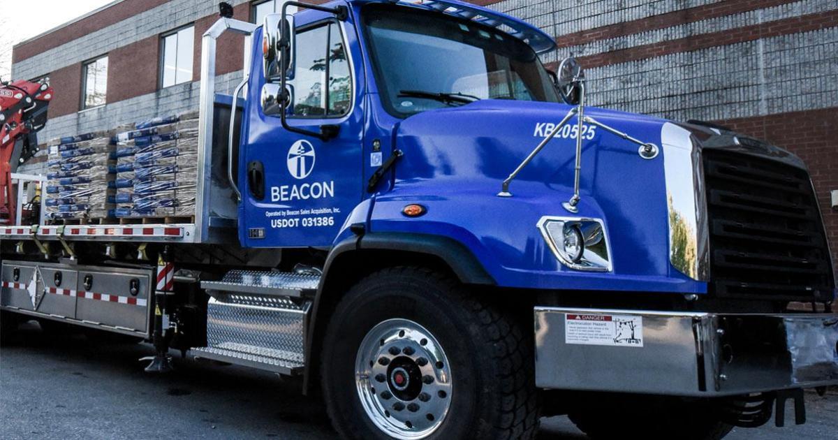 Beacon blue truck