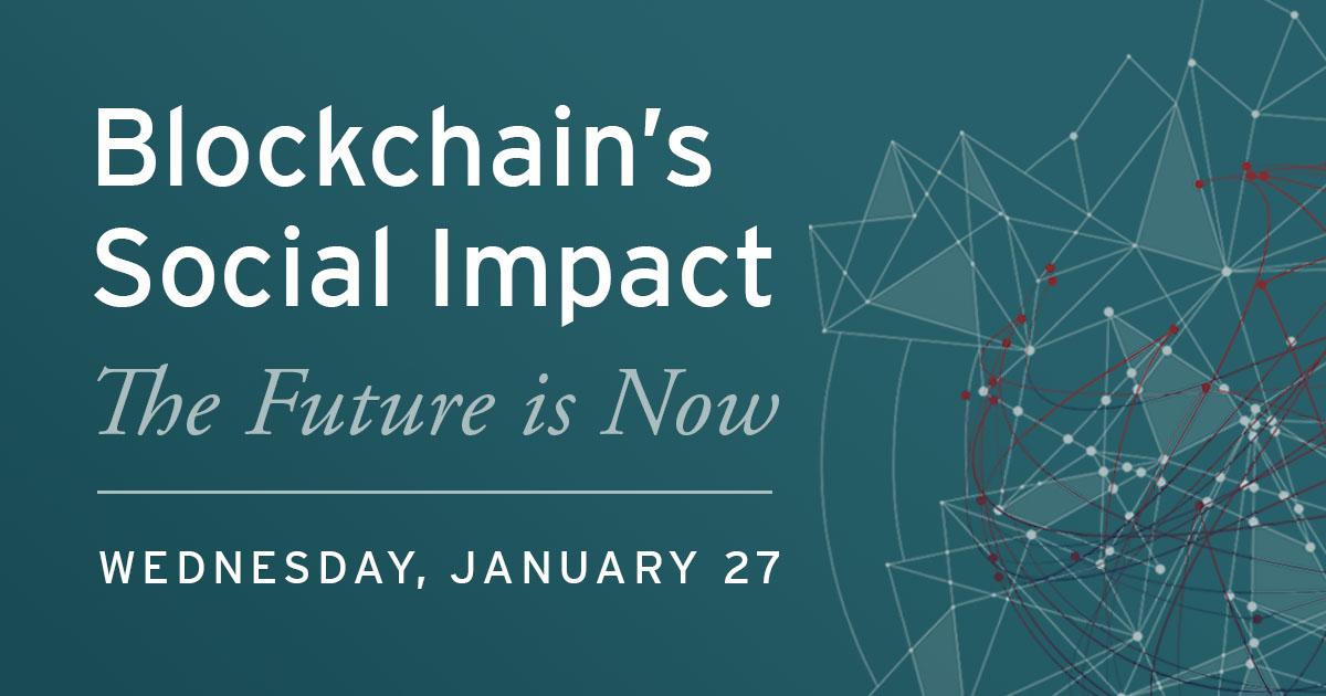 Blockchain's Social Impact graphic
