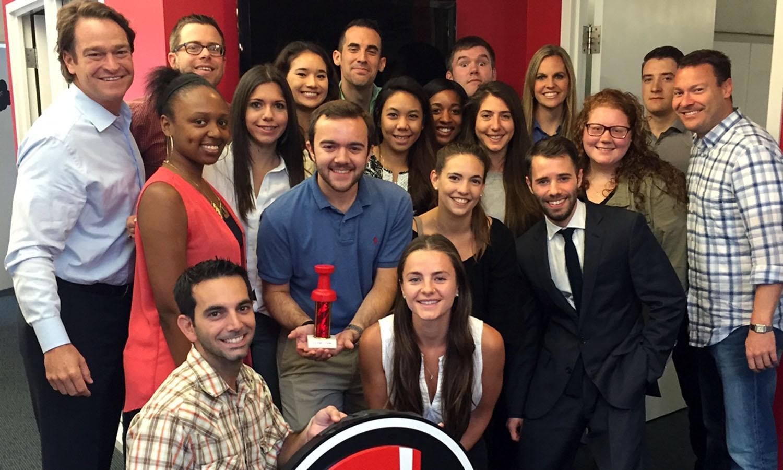 Students at RedPeg Marketing