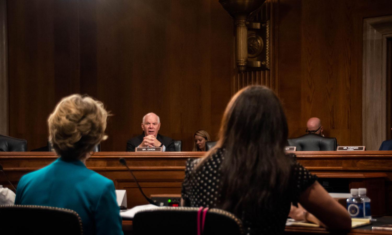 Caroline Bruckner testifying before Congress